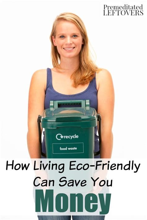 save money by living an eco friendly lifestyle
