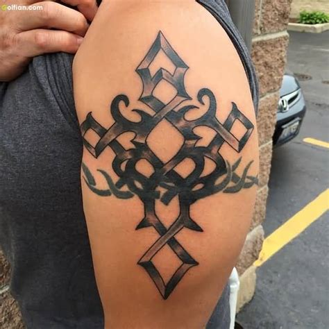 cross armband tattoo 40 awesome tribal armband tattoos best tribal armband