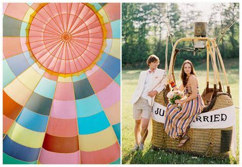 air balloon wedding theme