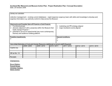 Project Planning Template Museum Strategic Plan Template