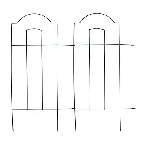 vigoro   cathedral steel wire folding garden fence