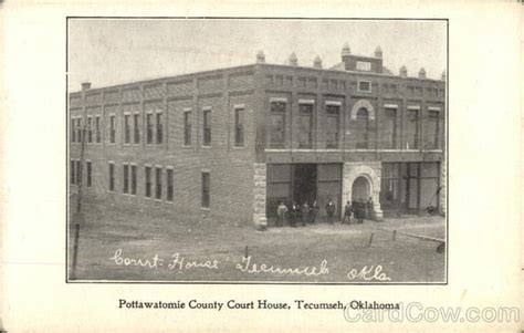 Pottawatomie County Court Records Pottawatomie County Court House Tecumseh Ok