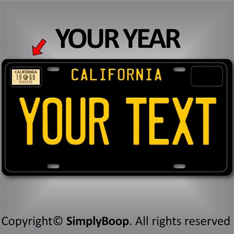 black california any text your personalized text aluminum