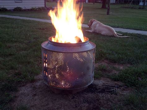 Washing Machine Firepit Washing Machine Turned Pit Hearth Forums Home Garden Water Features