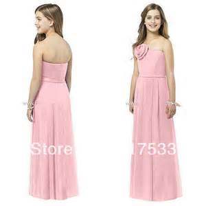Dresses for teenage girls wedding party dress ruffle junior bridesmaid