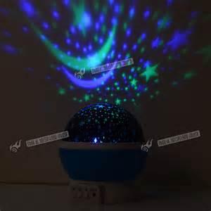 led rotating projector baby light nursery