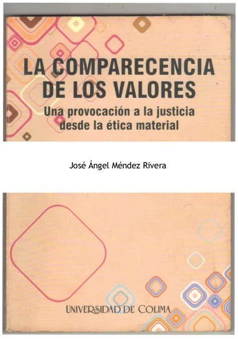 libro valores ticos 2 libro la comparecencia de los valores 2