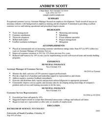 Assistant Service Manager Sle Resume by Unforgettable Assistant Manager Resume Exles To Stand Out Myperfectresume