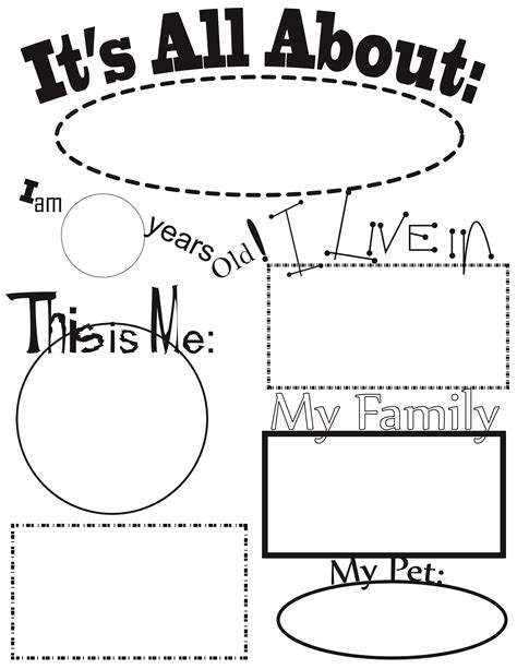 about me template for students all about me activities all about me theme this will be