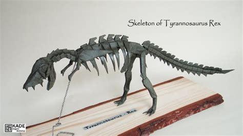 Origami T Rex Skeleton - kade chan origami 香港摺紙工作室 日誌 skeleton of