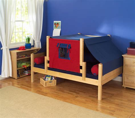kids fort bed day bed play fort by maxtrix kids blue red on natural