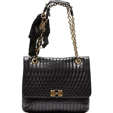 Black Shoulder Bag lanvin happy black quilted leather shoulder bag