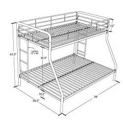 dhp sized bunk bed sized bed with metal