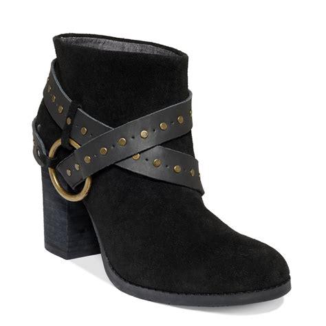 shooties boots calvin klein shooties in black black suede lyst
