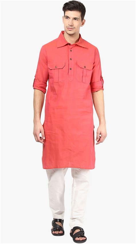 peach color cotton kurta pajama set 5078 22 awesome summer kurtas for men in 2016