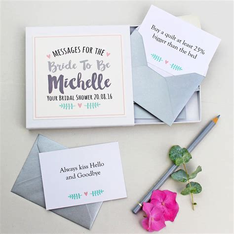 Wedding Box Message by Personalised Messages For The Gift Box By Martha