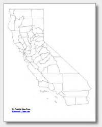 blank map of california printable california maps state outline county cities