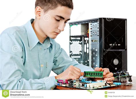Hardware Technician by Computer Engineer Royalty Free Stock Image Image 29458126