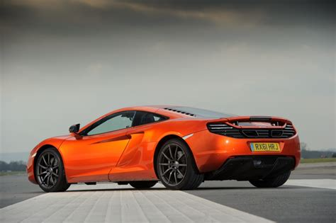 orange mclaren rear mclaren mp4 12c 2012 orange low rear revival sports cars