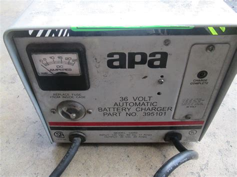lester golf cart charger parts lester apa advance mdl 12050 36v 20a auto battery charger