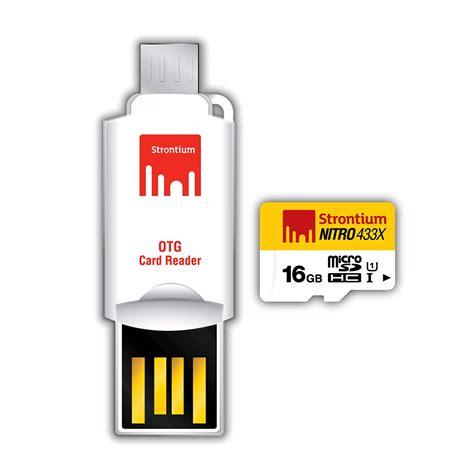 Termurah Microsd Strontium Nitro 16gb Speed 433x 65mb S strontium nitro 433x microsdhc card otg card reader 16gb up to 65mb s uhs 1 deals