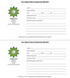 tax receipt for charitable donations template tax deductible donation receipt