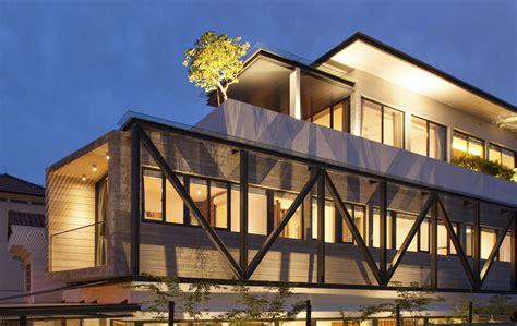 Contemporary Modern House by Fachada Lateral Con Estructura De Acero Planos De