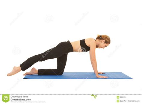 Pilates Mat Series by Pilates Exercise Series Stock Images Image 5403734