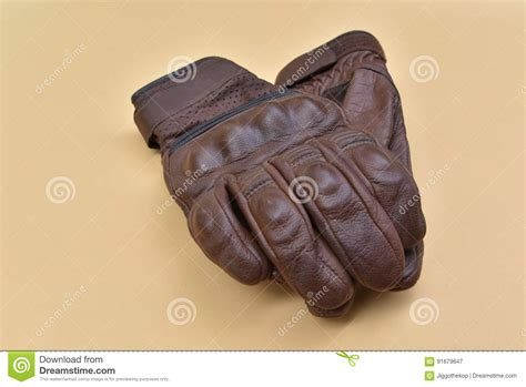 brown motorcycle riding tan brown leather gloves for riding a motorcycle or