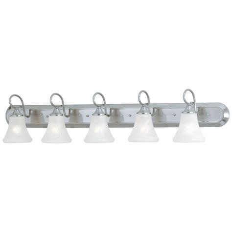 5 light vanity light brushed nickel hton bay 4 light brushed nickel wall vanity light