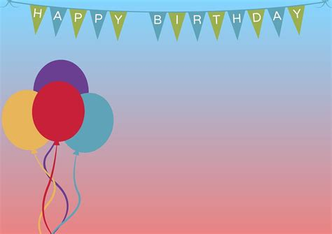 background ultah free illustration birthday background balloons free