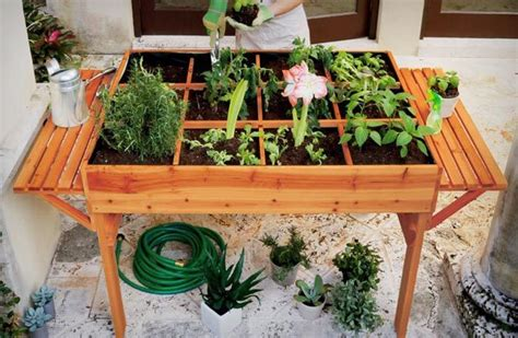 Gardening Table by Organic Garden Table Garden Europe