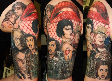 rocky horror picture show tattoo rocky horror picture show half sleeve