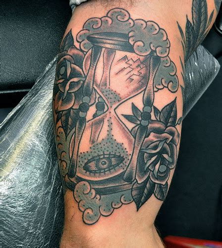 traditional sand timer tattoo flickr photo sharing