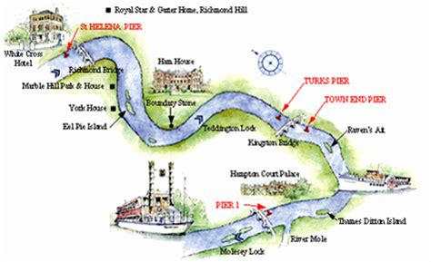 map of river thames richmond the river thames guide thames river cruise boat trips