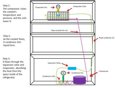 how refrigeration works diagram research the topic how does a refrigerator work r