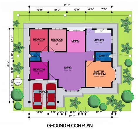 layout rumah 4 bilik pelan rumah kung desainrumahid com
