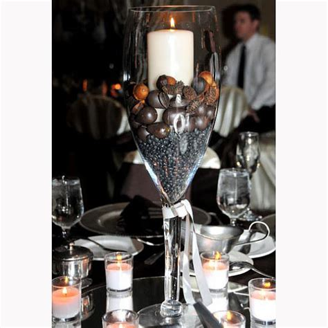 Glass Vase Centerpiece by Chagne Glass Vase Centerpiece For By Partyspin
