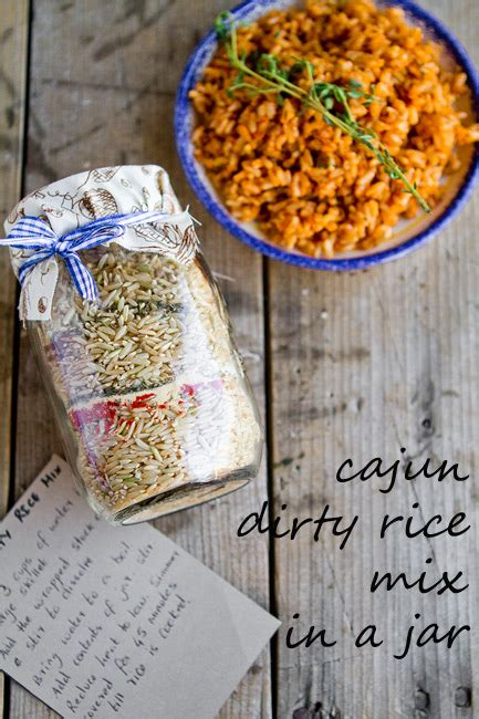 cajun dirty rice mix in a jar homemade holiday gift ideas