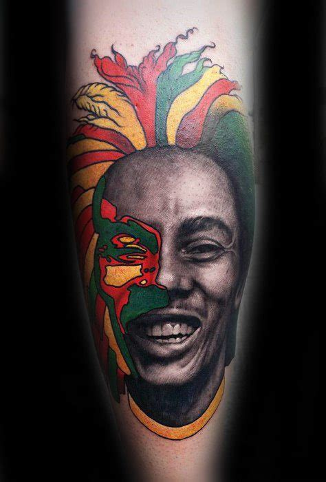bob marley tribal tattoos 60 bob marley tattoos for jamaican design ideas