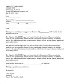 Donation Letter Sports Team Thank You Letter For Donation 8 Free Word Excel Pdf Format Free Premium Templates