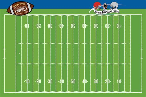 Football Sweepstakes - football sales drive contest board