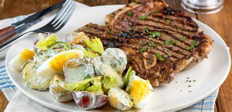 heat of the summer potato salad recipe beachpeach t bone steak and summer potato salad eggs ca