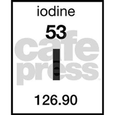 Iodine Periodic Table by Periodic Table Iodine Coasters Cork Puzzle Tile