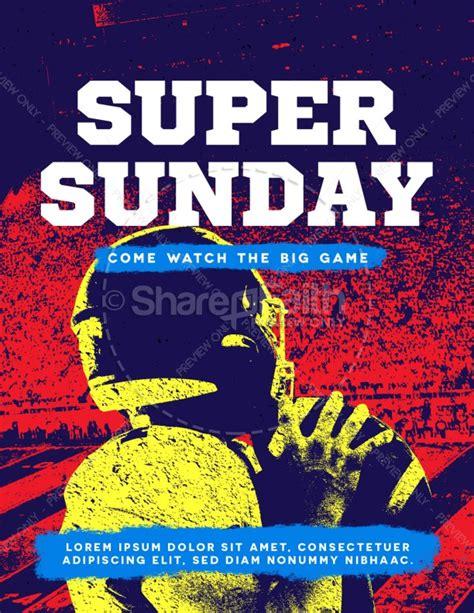 Super Sunday Football Church Flyer Template Flyer Templates Sunday School Flyer Template