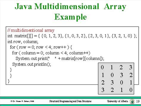 array tutorial construct 2 java multidimensional array exle