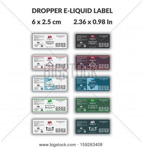 Dropper Bottle E Liquid Label Vector Photo Bigstock E Juice Label Template