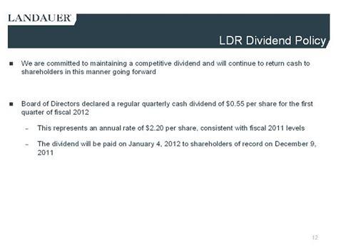 irc section 338 h 10 landauer inc form 8 k ex 99 1 investor presentation