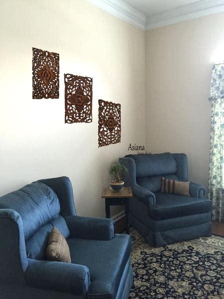 wood wall decor lotus flower multi panels asian home decor decorativ asiana home decor