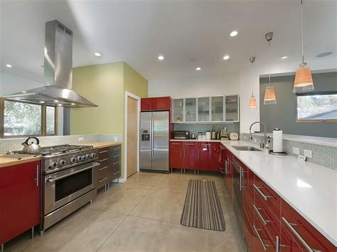 kitchen by design beautiful kitchen design idea feat red accents vanity